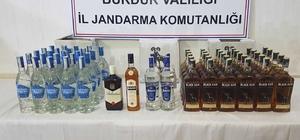 Burdur'da kaçak içki ve tarihi eser operasyonu