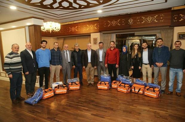 Başkan Remzi Aydın'dan sağlık personeline tam teşekküllü ilk yardım seti