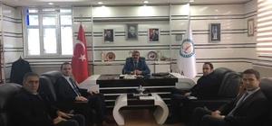 TKDK Koordinatörü Ahmet Yazar, Başkan Ferit Karabulut'u ziyaret etti
