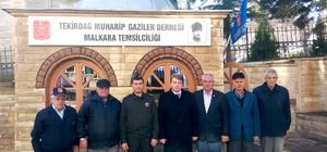 Kaymakam Karahan ve Jandarma Komutanı Kızıltan gazilerle buluştu