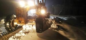 Kahramanmaraş Büyükşehir Belediyesi'nin kar mesaisi başladı