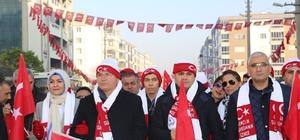 Torbalı 'da Sarıkamış şehitleri için yürüyüş