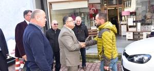 Başkan Yağcı, Osmaneli esnafını ziyaret etti