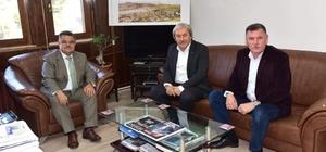 Başkan Yağcı'dan Osmaneli Belediye Başkanı Şahin'e geçmiş olsun ziyareti