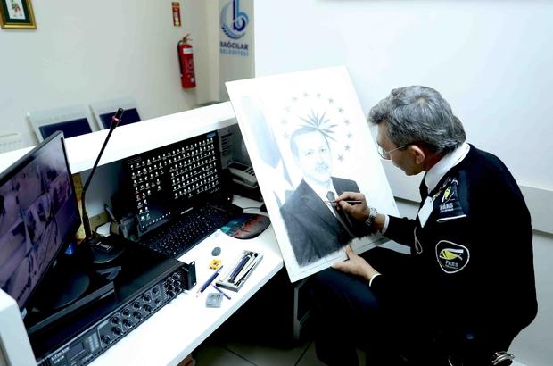 Güvenlik görevlisi resim öğrencilerini izleyerek ressam oldu