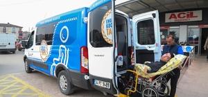 Kocaeli  Büyükşehir Belediyesi'nden engellilere taksi hizmeti