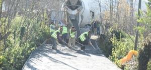 Altınordu'da mahalleler beton yola kavuşuyor
