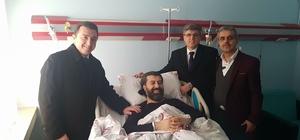 Başkan Bakıcı'dan hastane ziyaretleri