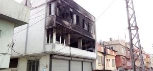 Yangında mahsur kalan Suriyeli aile kurtarıldı