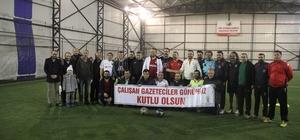 AK Parti ile gazeteciler dostluk maçında karşılaştı