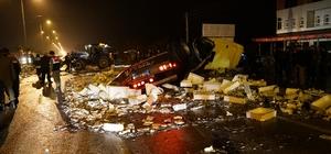 Samsun'da tır iki otomobile çarptı: 4 yaralı