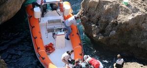 Antalya'da falezlerden düşen çocuk kurtarıldı