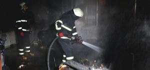 Adana'da ev yangını