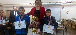 Satranç turnuvasında dereye girenlere ödülleri verildi