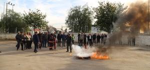 MESKİ personeli, yangın konusunda bilgilendirildi