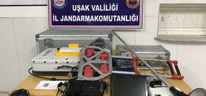 Uşak'ta 5 kişi 80 bin Euro değerindeki radarla define ararken yakalandı