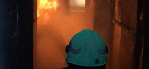 Elazığ'da boş ev yandı