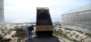 Erdemli'de asfaltlama çalışmaları devam ediyor