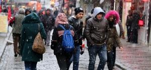 Edirne'de yılın ilk kar yağışı başladı