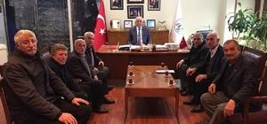 Muhtarlardan Başkan Seyfi Dingil'e ziyaret