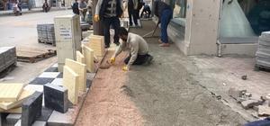 Adıyaman caddelerinde kaldırım yenileme çalışmaları başladı