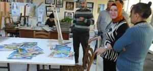 Halk Eğitim Kursları emeklileri ressam yaptı
