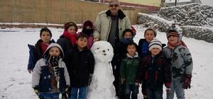 Hisarcık'ta çocuklar kara hasret kaldı