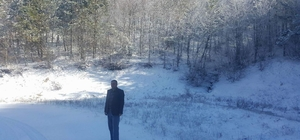 Akdağ'da kar kalınlığı 15 santimetreye ulaştı