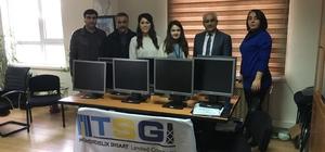 Aliağa'da okula bilgisayar bağışı