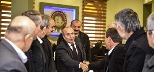 Milletvekili Çelik ve Başkan Arslan, Taşköprü'de muhtarlarla bir araya geldi