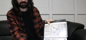 Ressam Dartar resminin Külliye'de sergilenmesinin sevincini yaşıyor