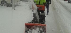 İpekyolu Belediyesinden karla mücadele çalışması