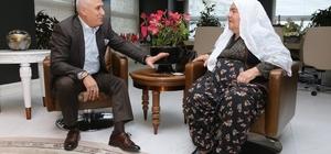 Başkan Bozbey Saime teyzenin isteğini yerine getirdi
