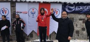 Erzincanlı milli kayakçı dünya şampiyonasına hazırlanıyor