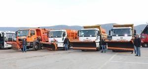 Körfez Belediyesi ekipleri karla mücadele için teyakkuzda
