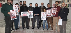 Mazlum-Der Ağrı Şubesi 28 Şubat yargı kararlarını protesto etti