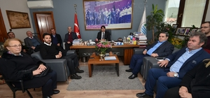 CHP Foça yönetiminden Başkan Demirağ'a ziyaret
