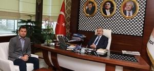 Başkan Baran, misafirlerini makamında ağırladı