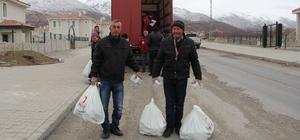 Erzincan Türk Kızılayından 570 Ahıskalı aileye gıda yardımı