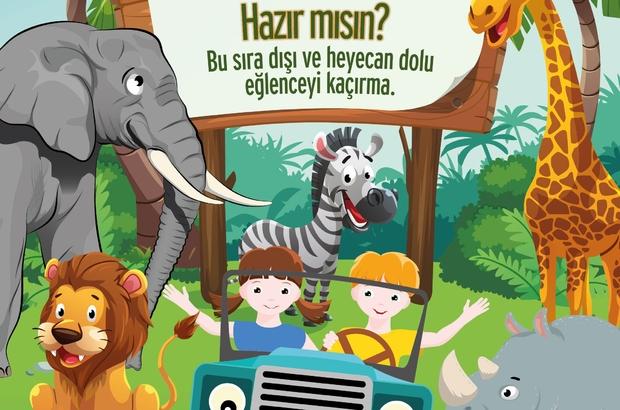 """Ataşehir'de çocuklara karne hediyesi """"Safari Dünyası"""""""