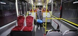 Van'da belediye otobüsleri dezenfekte ediliyor