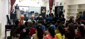 Damlacık İlkokulunda kitap okuma ve müzik dinletisi etkinliği