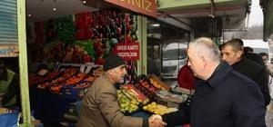Başkan Remzi Aydın okul ve esnaf ziyaretlerine devam ediyor