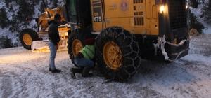 Mersin Büyükşehir'den karla mücadele