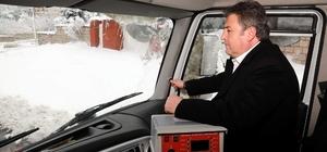 Başkan Palancıoğlu karla mücadele çalışmalarına katıldı