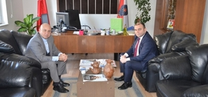 Başkan Saraoğlu'ndan Emniyet Müdürü Tosun'a teşekkür ziyareti