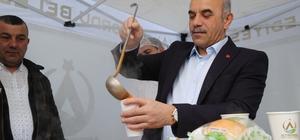 Başkandan çorba ikramı