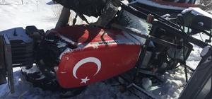 Horasan'da traktör devrildi: 3 yaralı