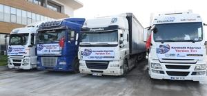 Bursa'dan Suriye'ye yardım tırları gönderildi