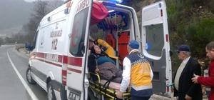 Isparta'da trafik kazası: 1 yaralı